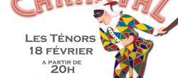 Affiche Soirée Carnaval Février 2016