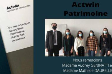 Retour D'expérience Avec Mesdames Audrey GENINATTI Et Mathilde DAURELLE, Du Cabinet Actwin