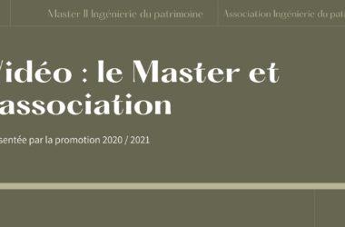 Vidéo : Le Master Et L'association Ingénierie Du Patrimoine